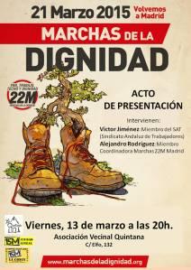 Cartel Marchas. Acto de Presentación. Viernes 13 de marzo - 20H. AV Quintana (1)