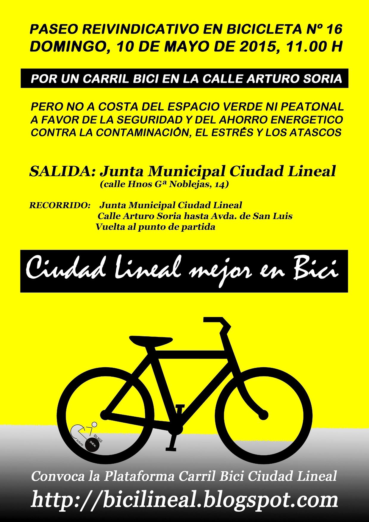 XVI Paseo reivindicativo en bicicleta por Arturo Soria   Asociación ...