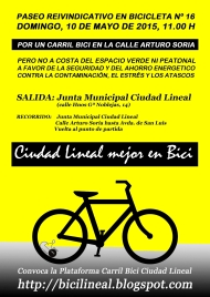 CARTEL CARRIL BICI 16 domingo 10 mayo COLOREADO