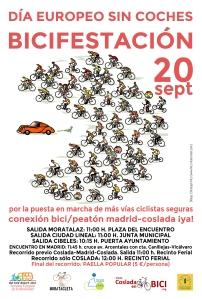 BICIFESTACIÓN. 20 sept. Conexión bici-peatón Madrid-Coslada Ya