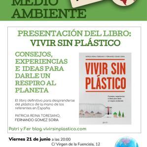 Presentación libro Vivir sin plástico. Viernes 21