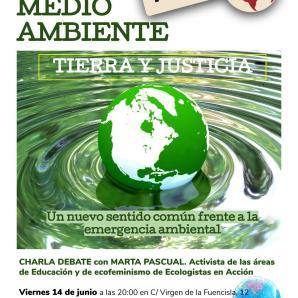 Charla Tierra y Justicia. Viernes 14